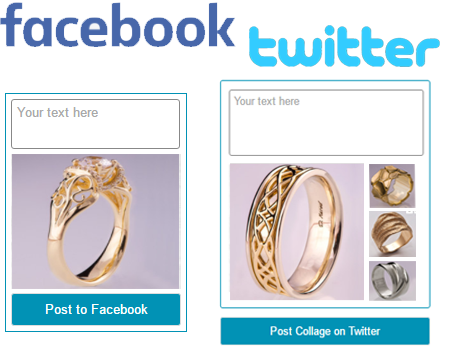 promote your etsy items on facebook/twitter